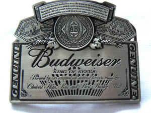 Budweiser King of Beers Belt Buckle