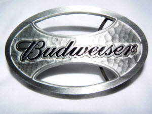 Budweiser Oval Belt Buckle
