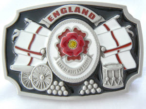 England Patriotic Belt Buckle