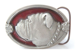 Baby Bulldog Belt Buckle