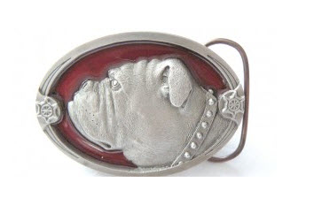 Patriotic Bulldog Belt Buckles