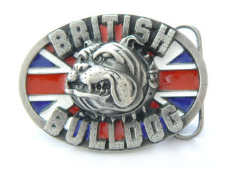Oval Bulldog Belt Buckle