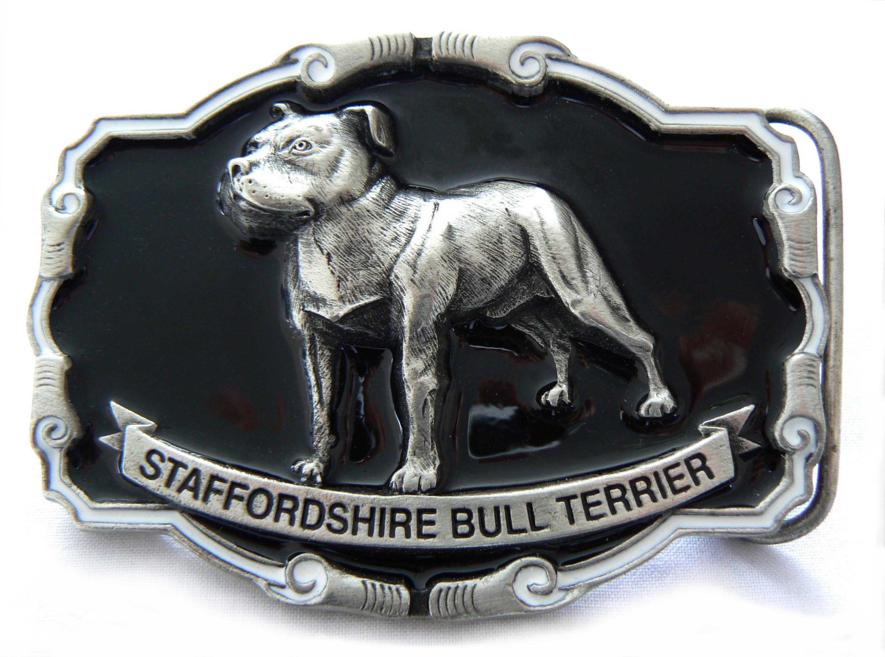 Staff Bull Terrier Buckle