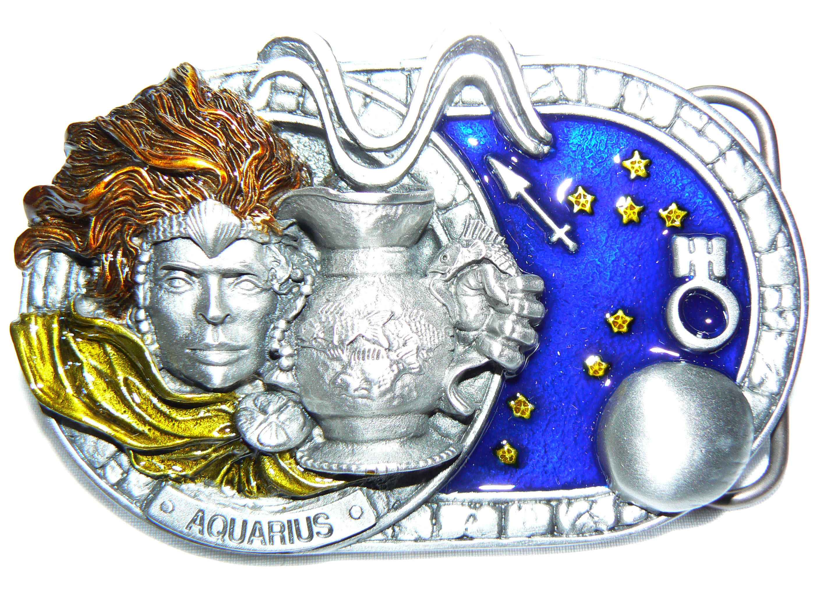 Aquarius Belt Buckle