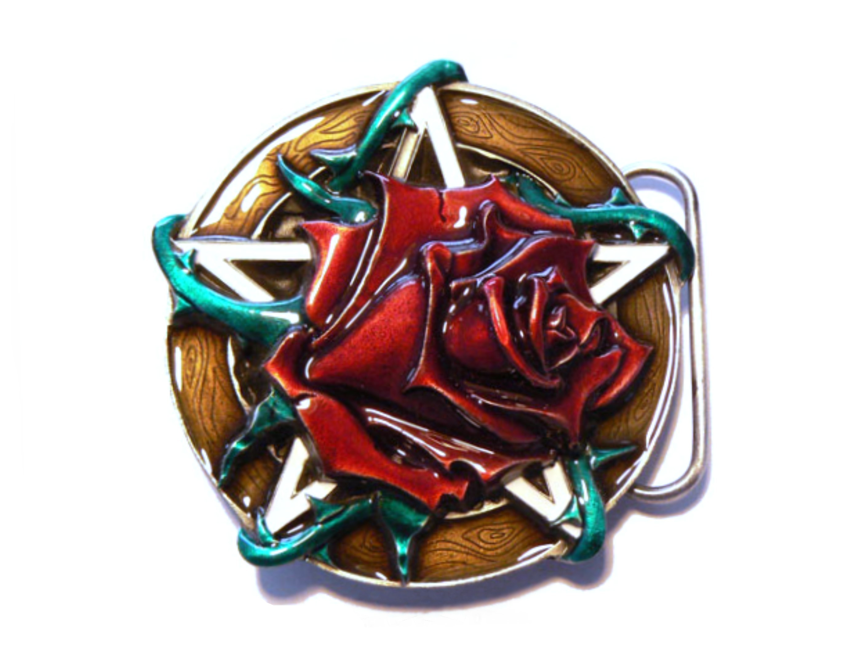 David's Rose Belt Buckle