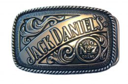 Jack Daniel's Polished Belt Buckle