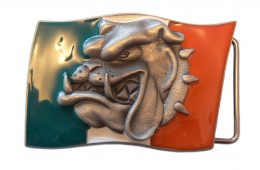 Italian Flag Bulldog Buckle