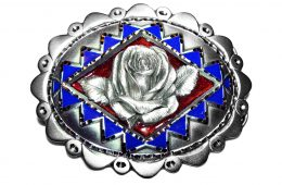 Oval Rose Belt Buckle