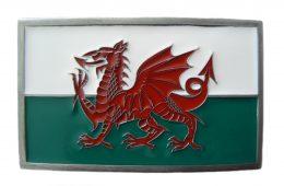 Cymru Welsh Flag Buckle