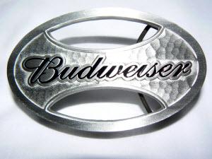 Budweiser Oval Belt Buckle