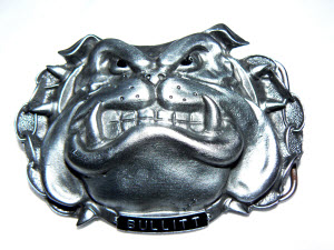 Bullitt Bulldog Belt Buckle