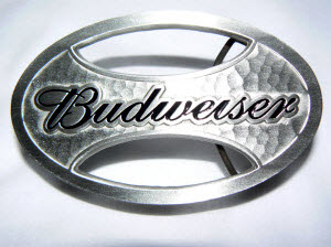 Oval Budweiser Belt Buckle