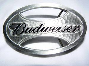 Oval Budweiser Belt Buckle
