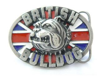 Oval Bulldog Belt Buckle