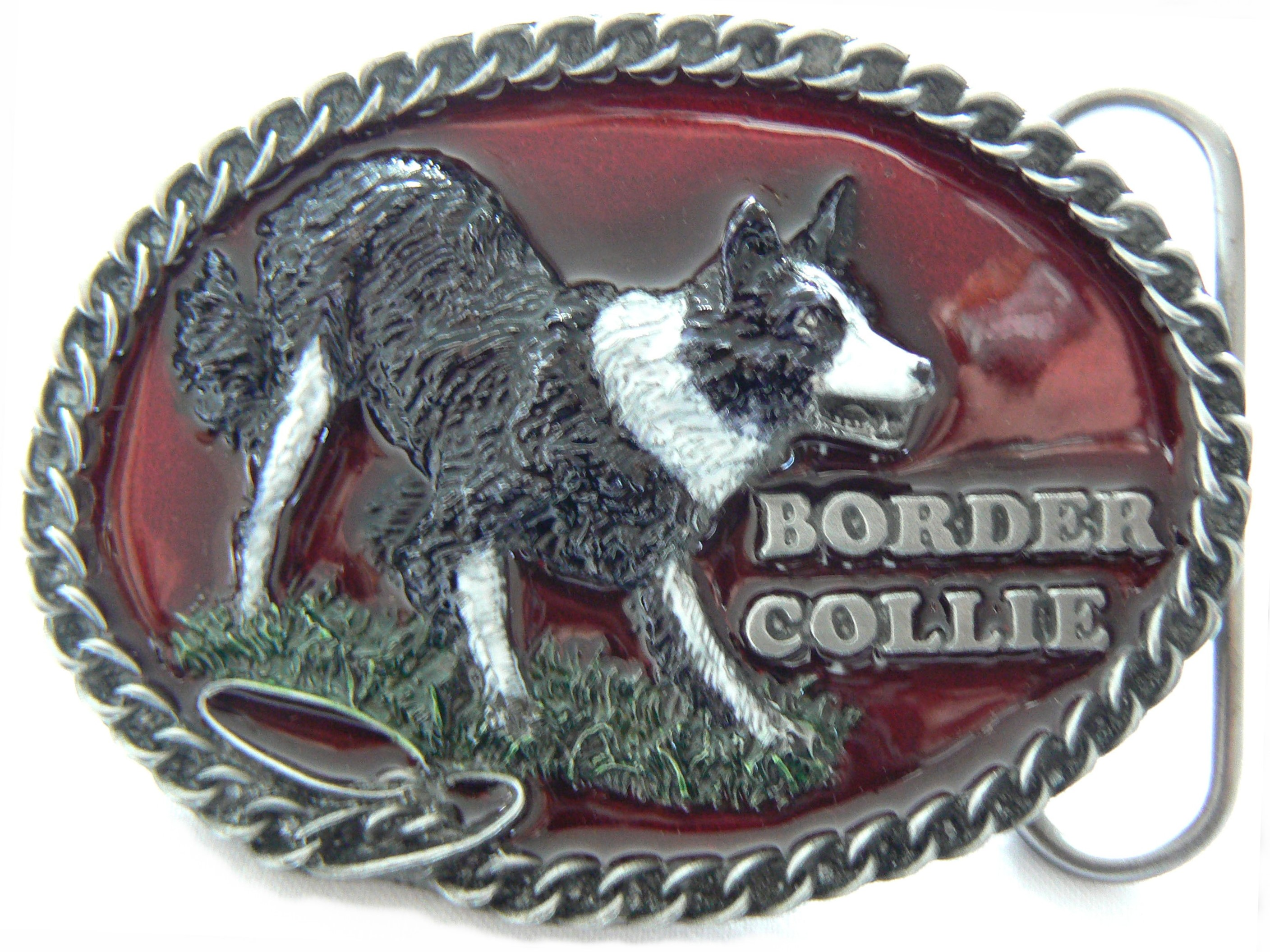 Border Collie Belt Buckle