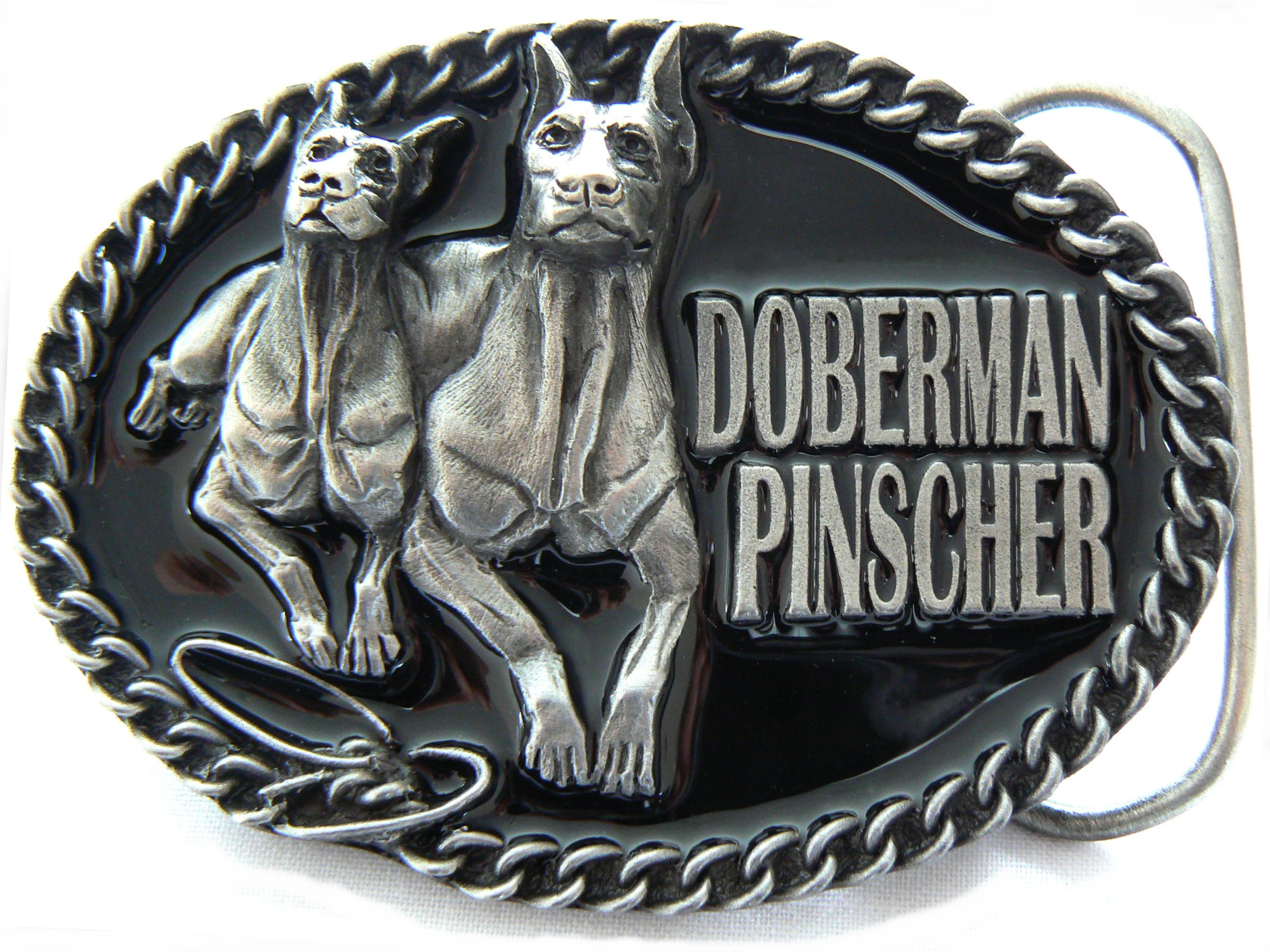 Doberman Pinscher Belt Buckle