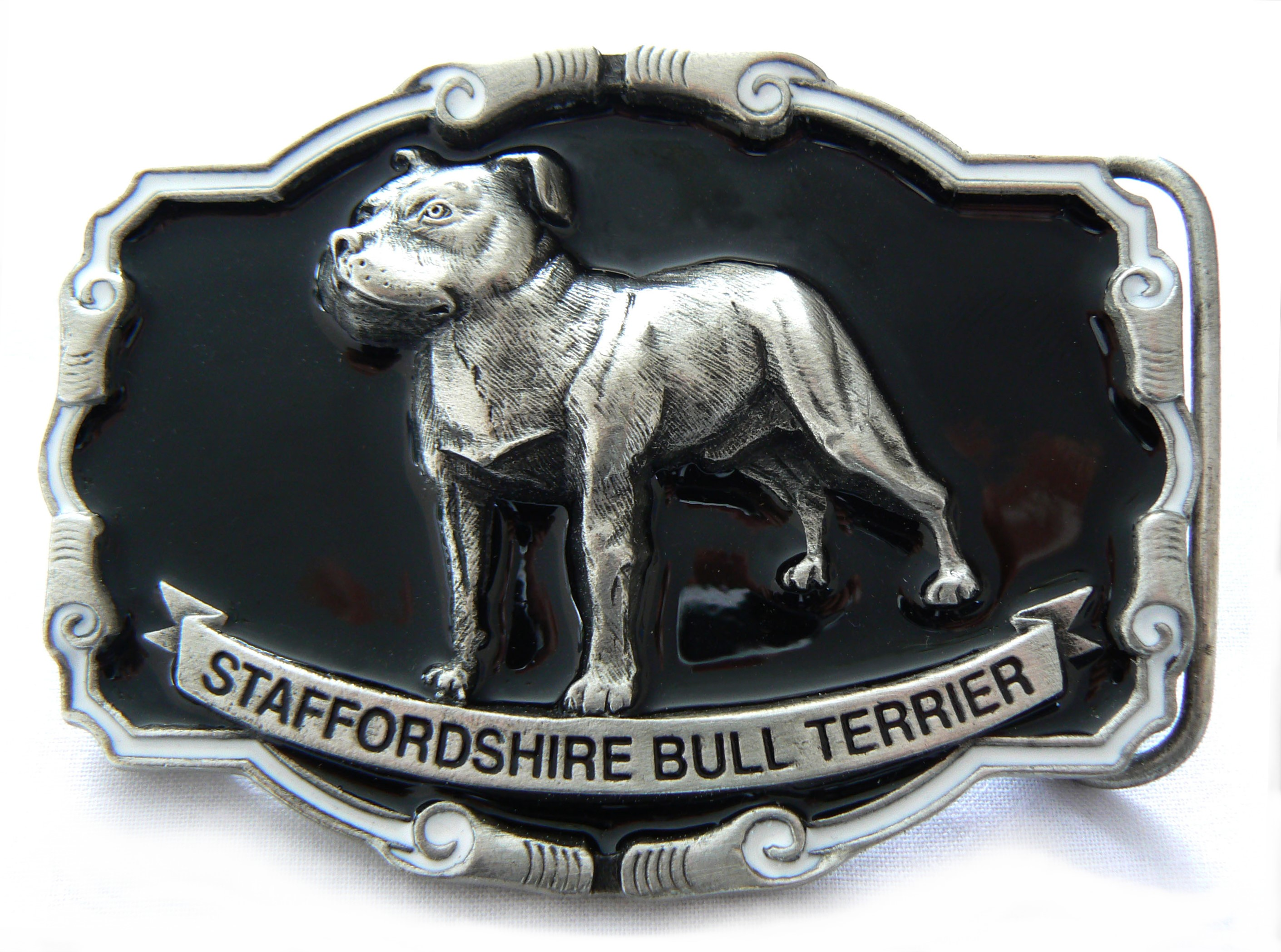 Staff Bull Terrier Buckle