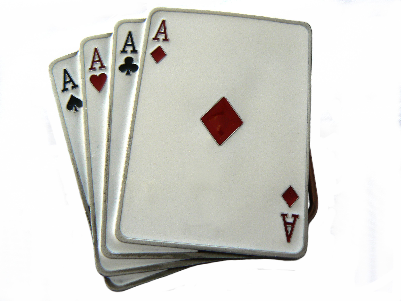 Four Aces Belt Buckle
