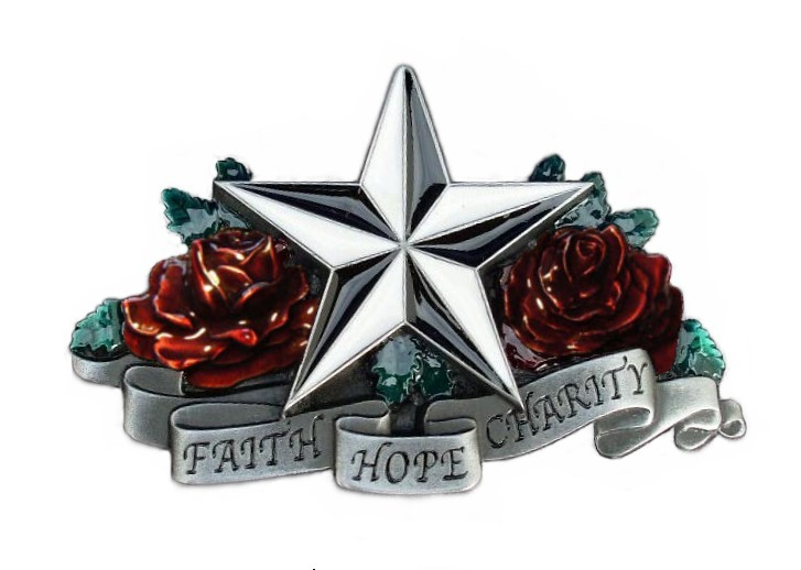 Faith, Hope, Charity Buckle