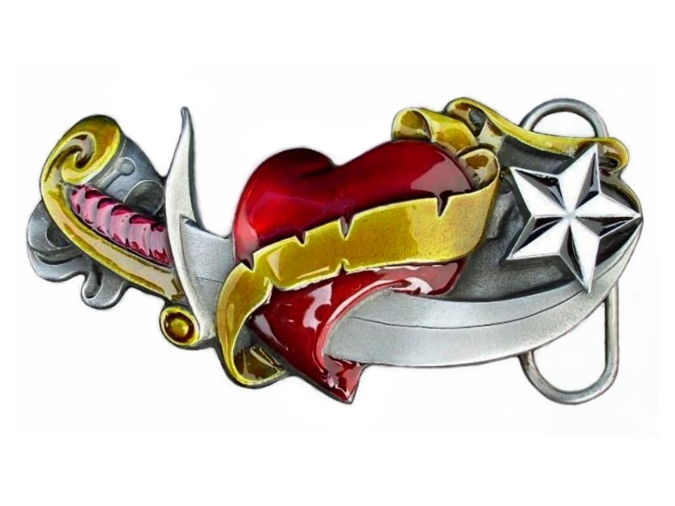 Heart and Sword Buckle