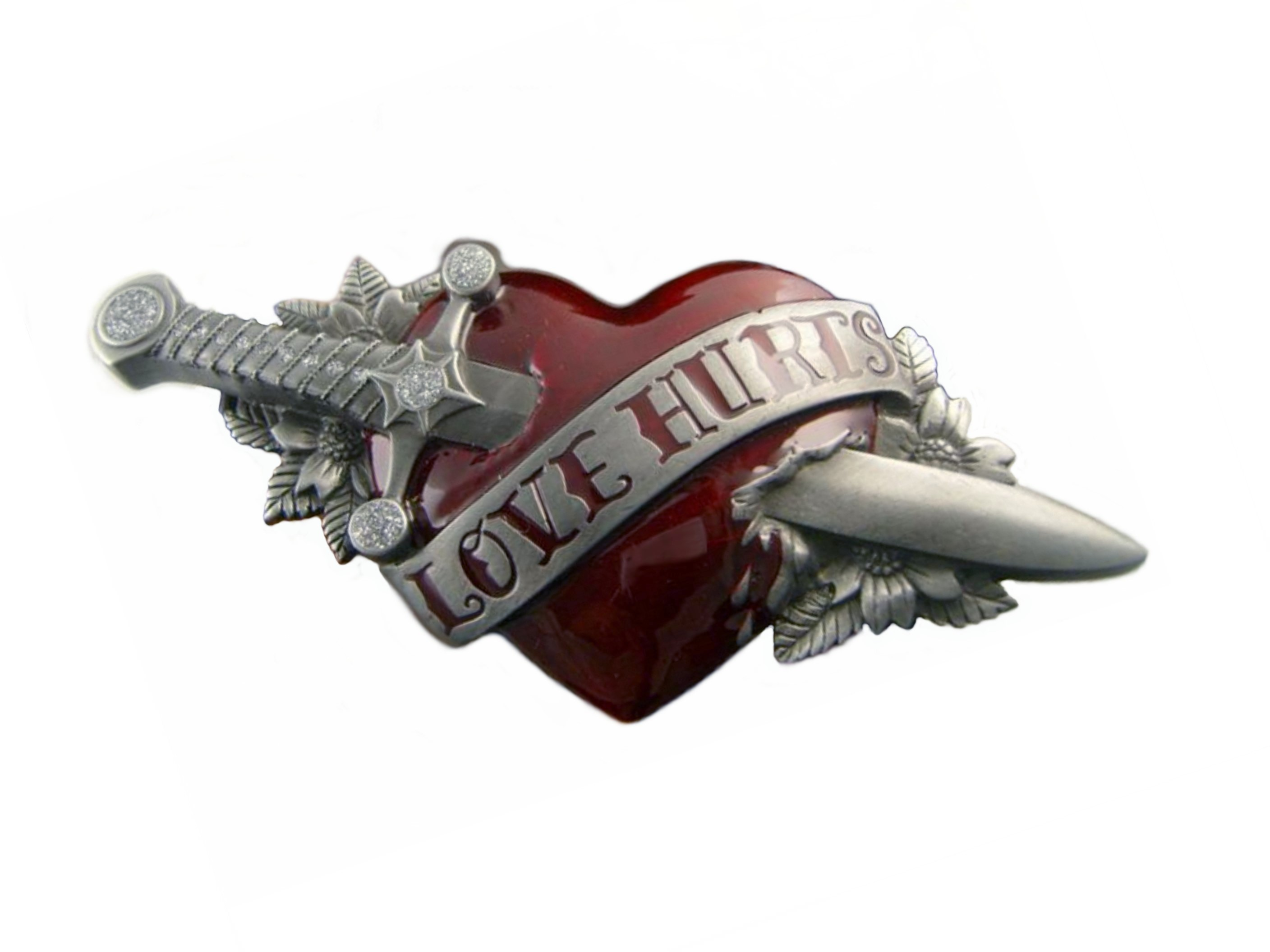 Love Hurts Belt Buckle