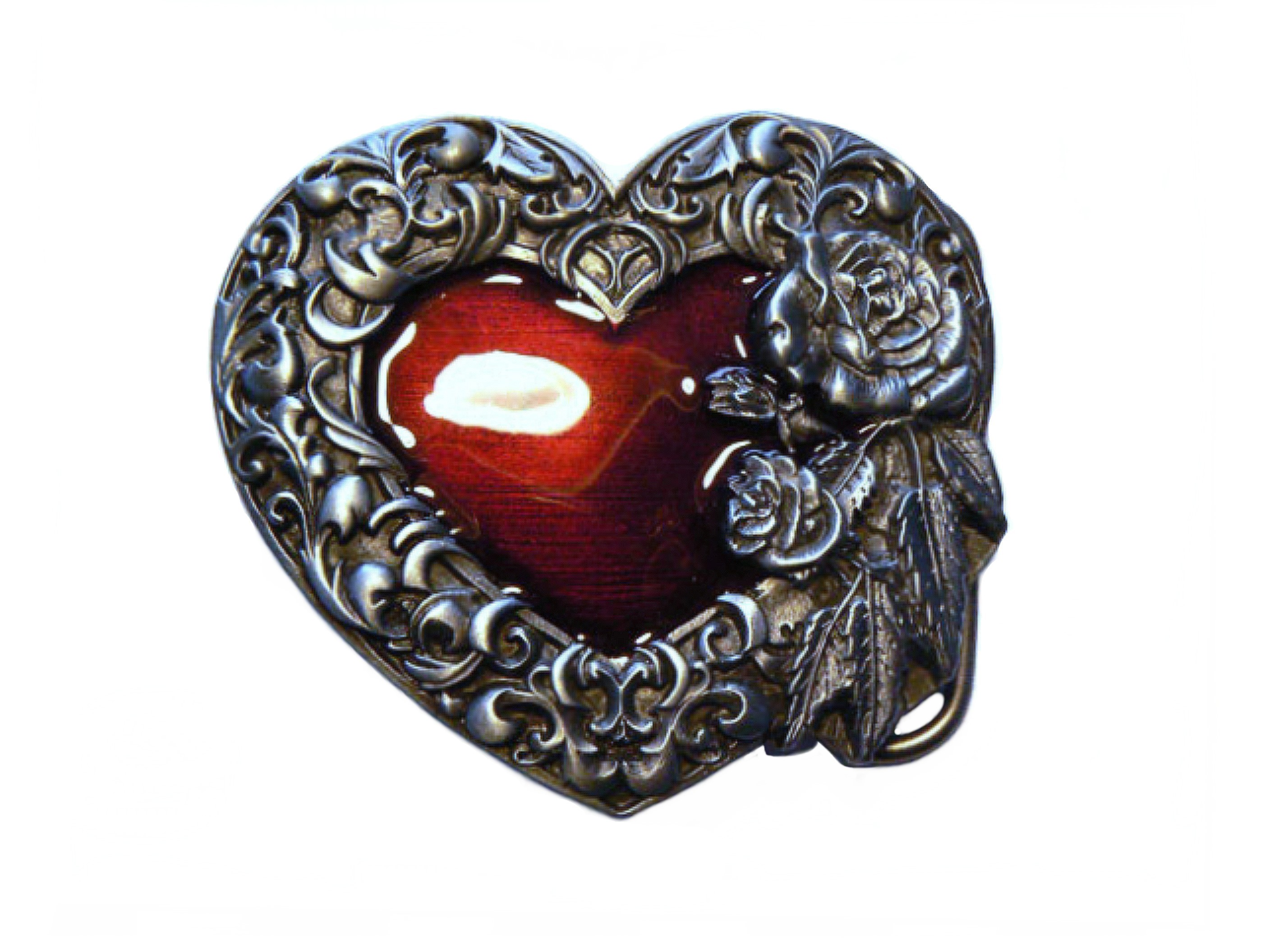 Silver Rose Belt Buckle