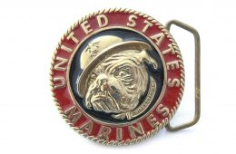 US Marines Mascot Belt Buckle