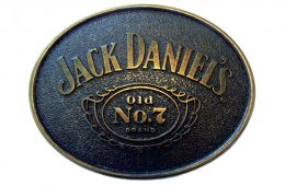 Jack Daniel's Bronze Belt Buckle