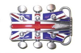 Guitar Union Jack Buckle