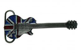 Glitter Guitar Belt Buckle